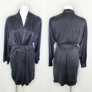 Victoria's Secret 100% silk tie front robe